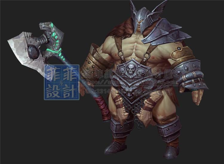 游戏美术素材 卡通Q版写实手绘角色场景 3D模型贴图 3dmax源文件