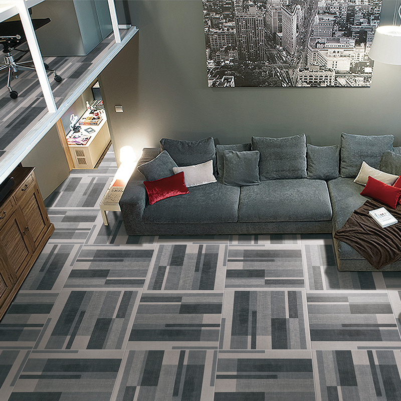 USD 15.11] Simple and modern gray floor tile living room ...