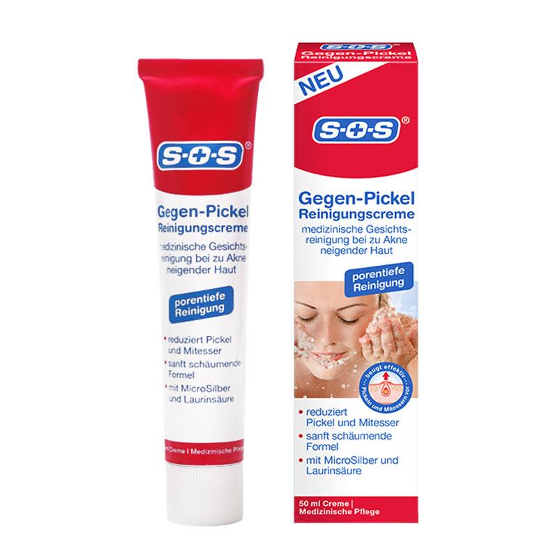 德国SOS 保湿控油洁面霜洗面奶50ml