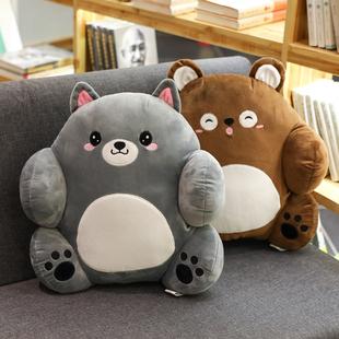 小熊可爱靠垫办公室腰靠抱枕