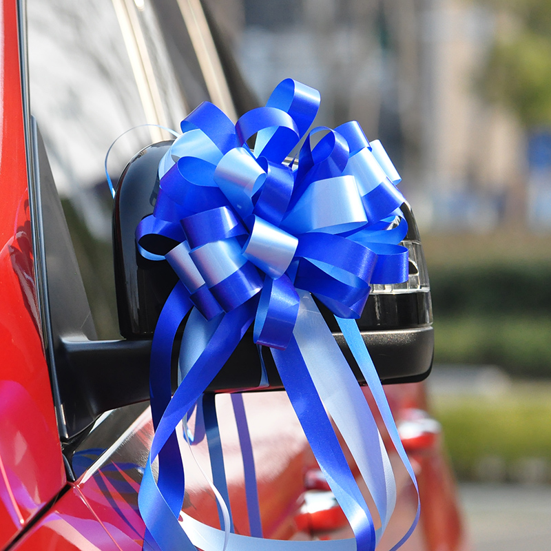[17. ROYAL BLUE] 1 BOX OF 10 STRIPS DOUBLE 6CM LARGE WEDDING CAR PULL FLOWERS