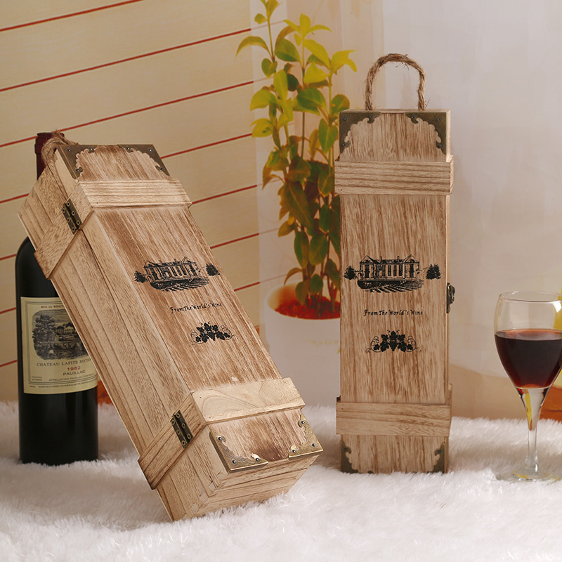 wooden wine gift boxes