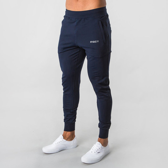 MSCT sports tide brand autumn and winter fitness trousers muscle male brothers running training large size loose feet pants