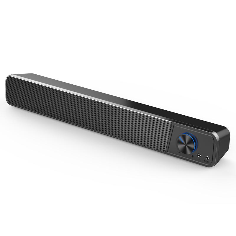 夏新G18电脑音响台式家用有线小音箱蓝牙多媒体笔记本超重低音炮影响长条带麦克风一体迷你USB大喇叭PS4通用