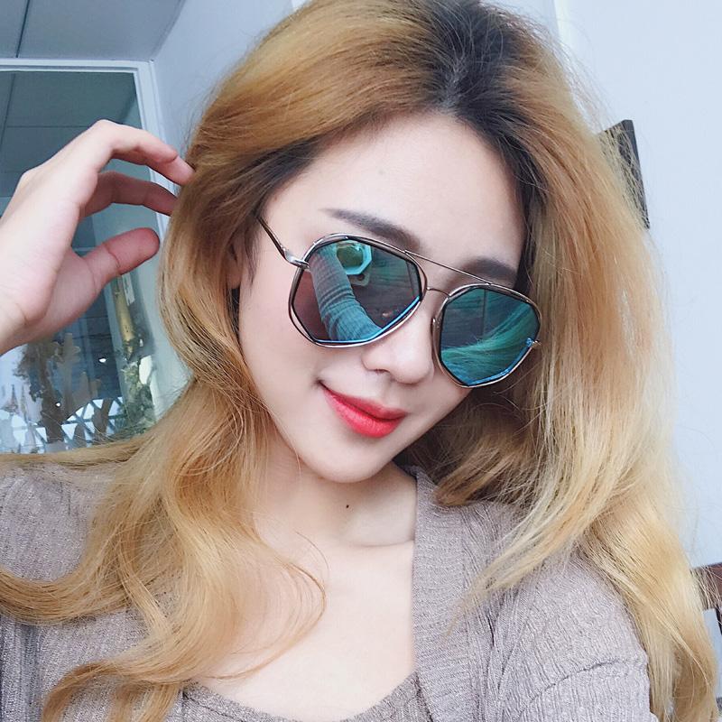 ed3bb1356c7 ... Korean personality round face polarized sunglasses long face sunglasses  female tide 2018 avant-garde male