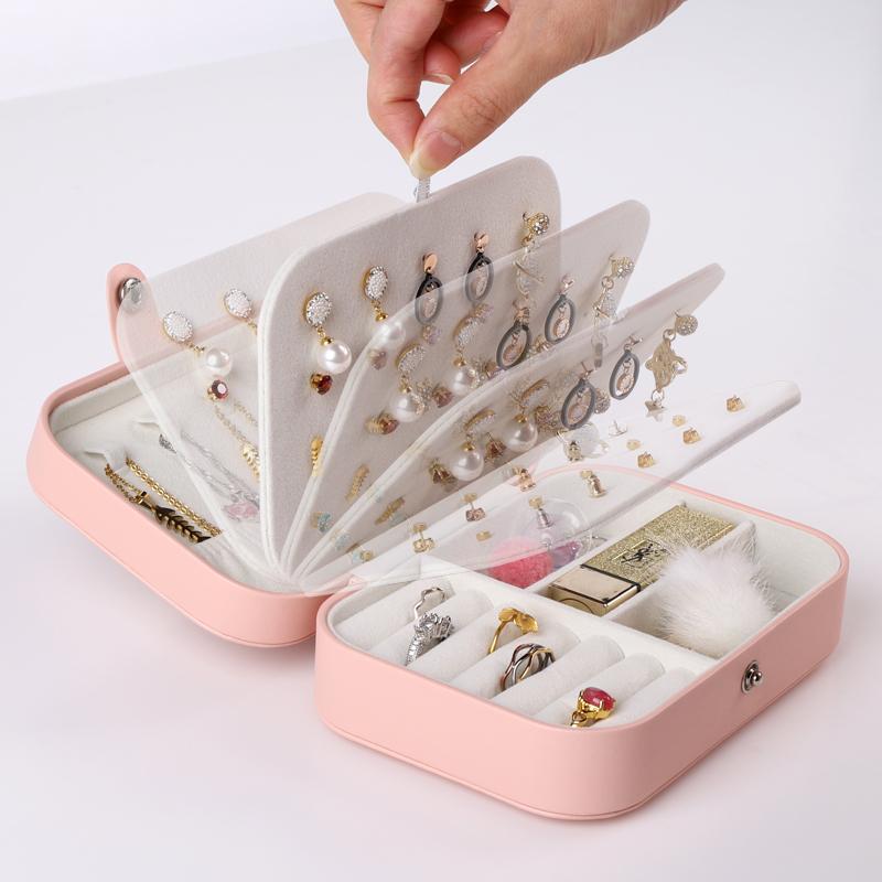 首飾收納盒項鏈收納盒手飾收納盒耳釘收納盒耳飾收納盒耳環收納盒