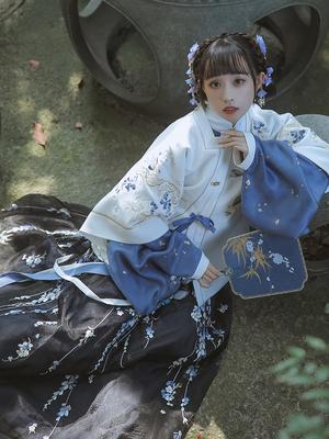【十三余 小豆蔻儿】[归梦星影]短袄方领半袖刺绣汉服女秋冬款