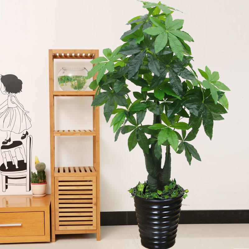 бонсай Поддельные дерево моделирование денежное дерево искусственные цветы гостиная украшения дома большой пол моделирование растения искусственные растения украшения