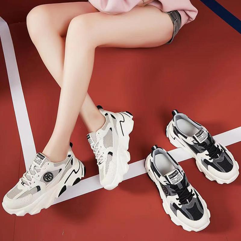 卡沃利老爹鞋女2020秋冬新款网红运动透气鞋真皮百搭休闲时尚女鞋