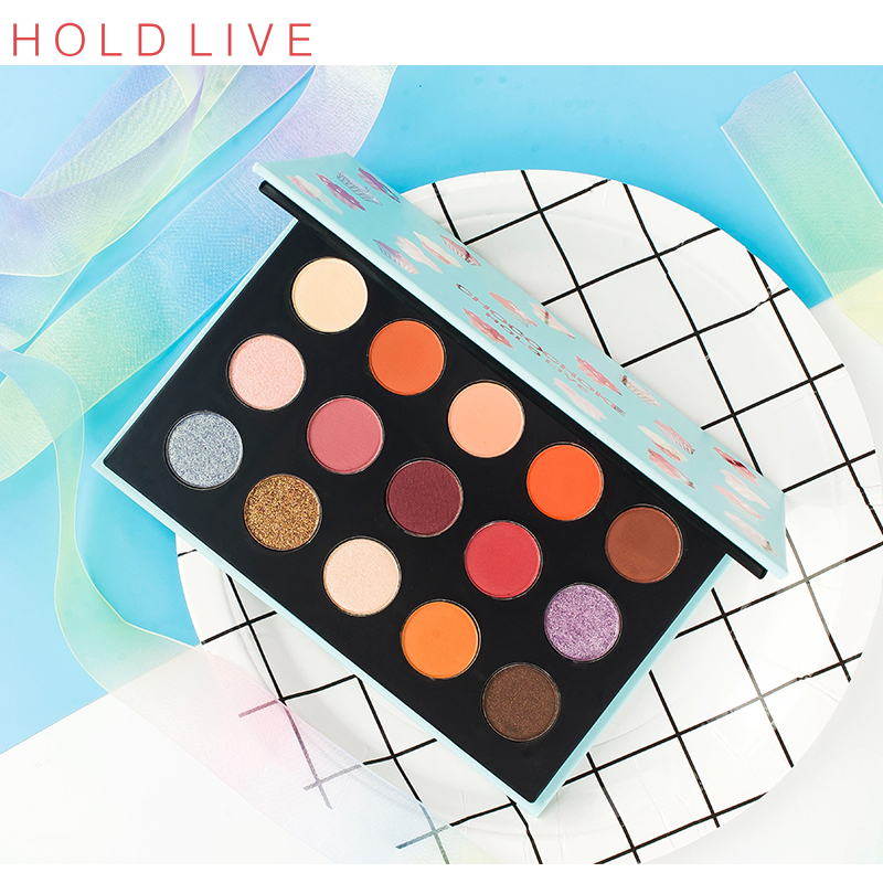 15 color eyeshadow 2#+ repairing rod + double head brush