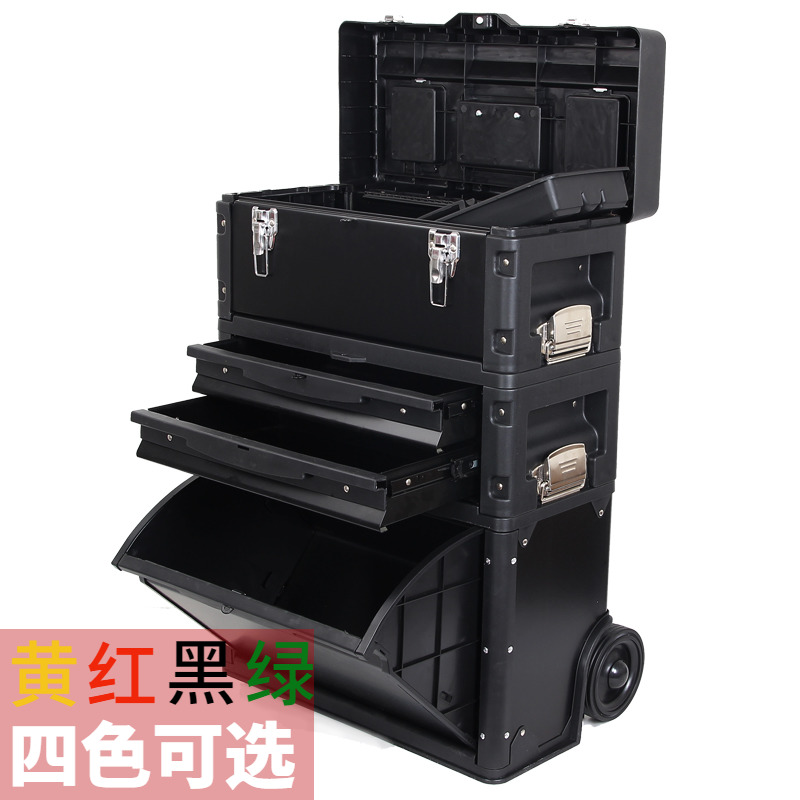 Trolley kit versatile metal toolbox three modular trolley pulley movable metal tool cart