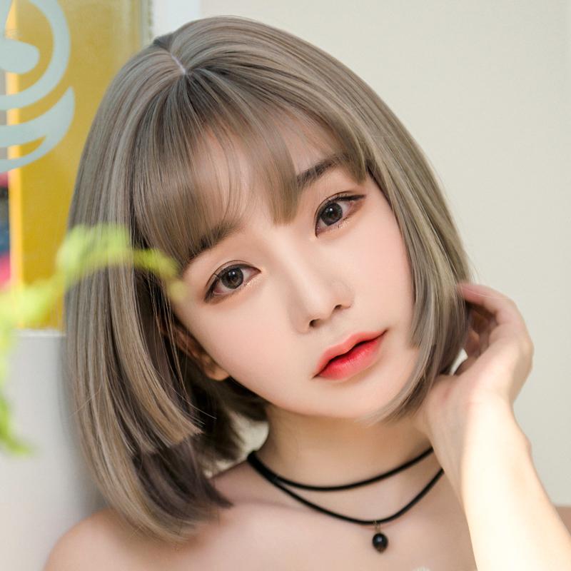 Usd 3448 Princess Cut Wig Female Short Hair Bobo Head Round Face