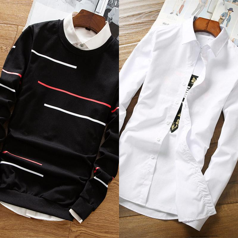 We623 black (no plus velvet) + white shirt