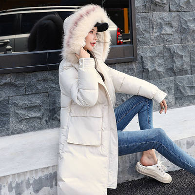 6 Cotton jacket women 2020 new winter big fur collar ins thick bread jacket mid-length padded jacket cotton jacket