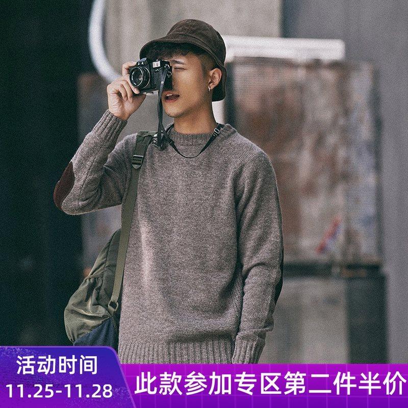 Áo len dệt kim cao cổ nam Nhật Bản Retro Hàn Quốc Áo len dài tay Thanh niên Đáy mùa thu Áo khoác mùa thu - Cardigan