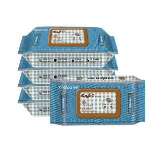 酷帕新生婴儿带盖湿巾80抽*5包