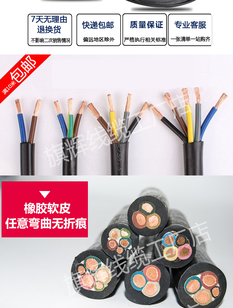 USD 4.37] Rubber sheathed cable wire and cable sheathing line 3 4 5 ...