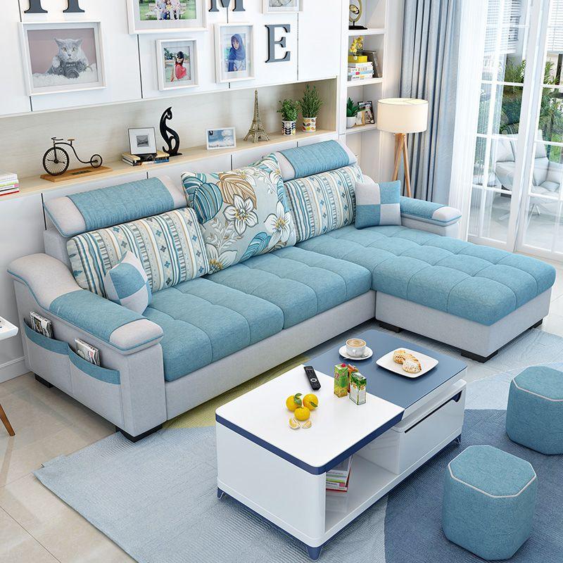 Nội thất IKEA đơn giản, sofa vải hiện đại, căn hộ nhỏ, nội thất phòng khách, kết hợp hoàn chỉnh - Ghế sô pha