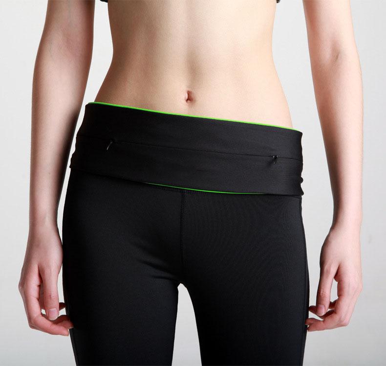 专业装备店运动户外手机高弹力骑行腰包隐形拉链运动健身轻便腰带