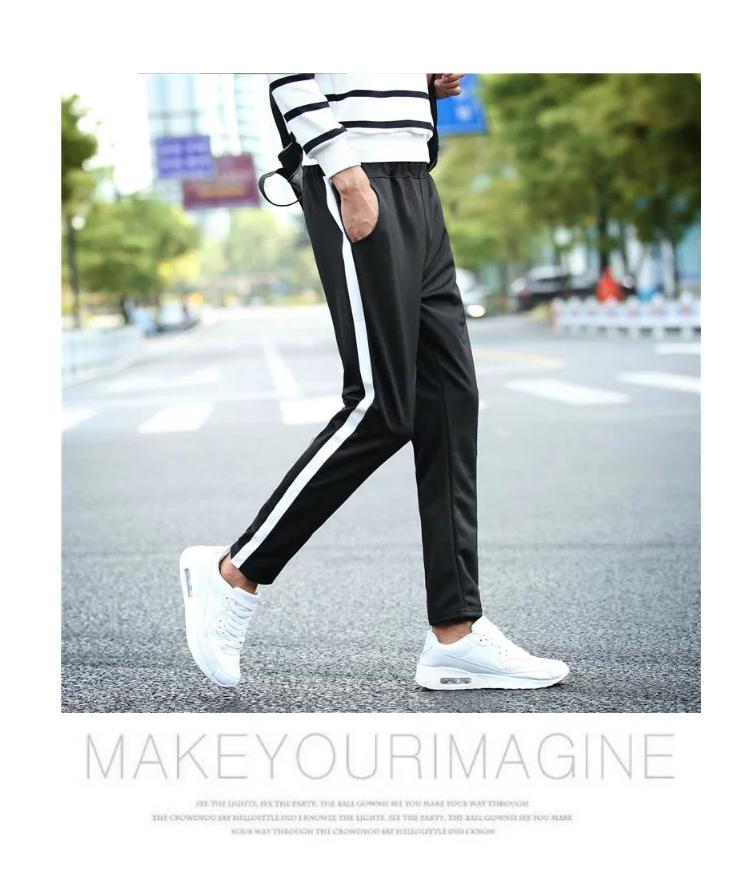 2018 mùa hè quần âu nam stretch tight chân thoáng khí Hàn Quốc phiên bản của tự trồng thanh niên vành đai đàn hồi chân nhỏ chín quần