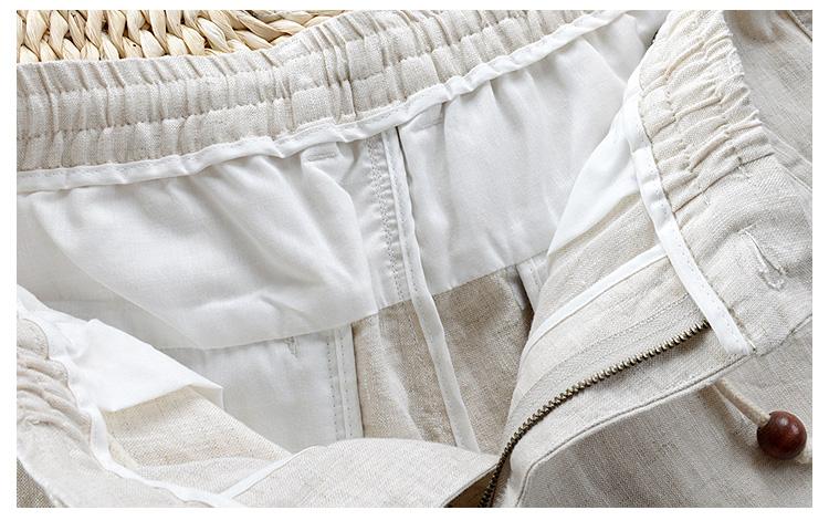Trung quốc phong cách phần mỏng bông và vải lanh quần nam dây kéo Slim linen chín quần nam thanh niên chân thường linen chất liệu kích thước lớn