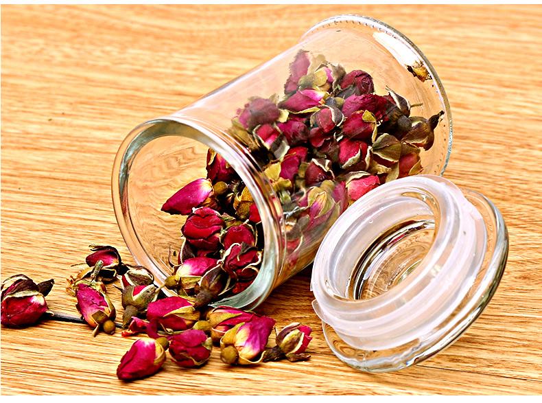 熱銷#玻璃瓶子雜糧花茶葉密封罐帶蓋儲物罐蜜蜂糖果食品玻璃罐家用大號#酒瓶#密封罐#餐盤#吸管