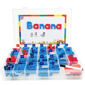英文字母磁力贴英语磁性字母贴卡片教具数字磁铁冰箱贴玩具拼单词