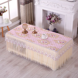 Thickened fabric non-slip coffee table cover tablecloth dust cover rectangular household living room dining table cover tablecloth cushion protective cover