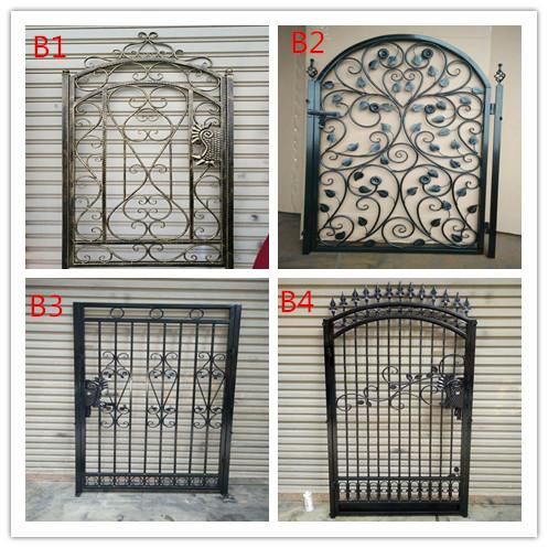 Custom European Style Iron Gate Iron Gate Iron Gate Villa Door Courtyard  Security Door Garden Warehouse Double Door
