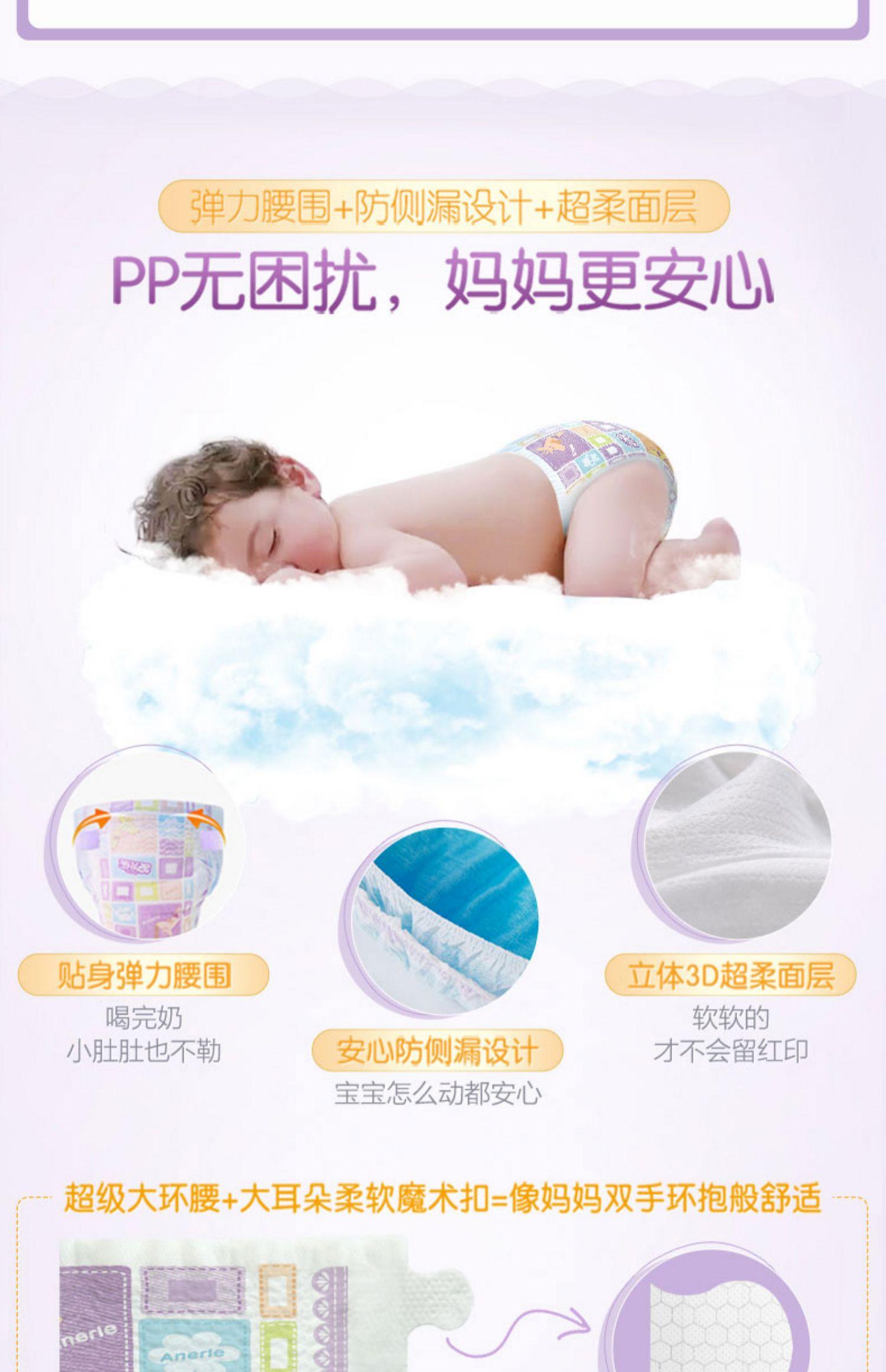 安儿乐小轻芯纸尿裤 安尔乐夏季超薄透气婴儿干爽尿不湿SM/L/XL码商品详情图