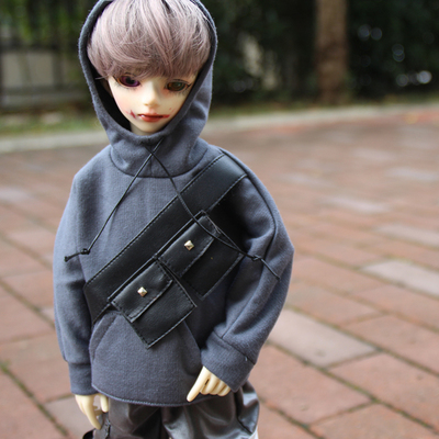 taobao agent bjd/blythe/ob24 small cloth/imda3.0 baby clothes suit hanging bag sweater pocket overalls hat