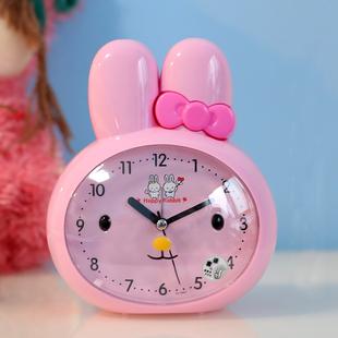 儿童卡通闹钟多功能静音夜灯闹表