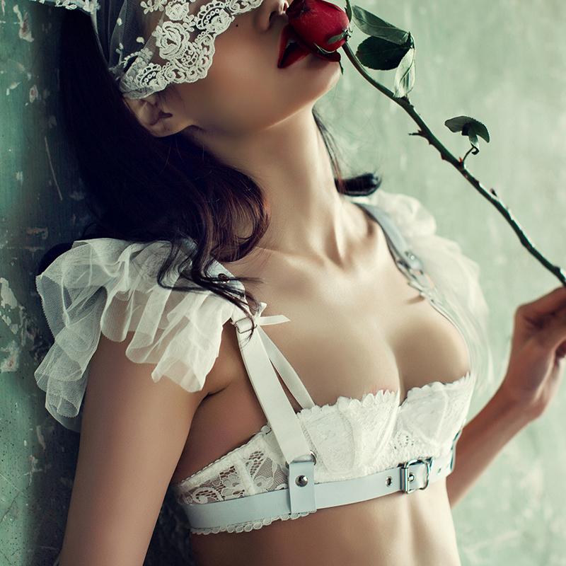 BOTHYOUNG сокровище поэзия кокетливый harajuku стиль кожзаменитель бандаж сексуальный подвязки