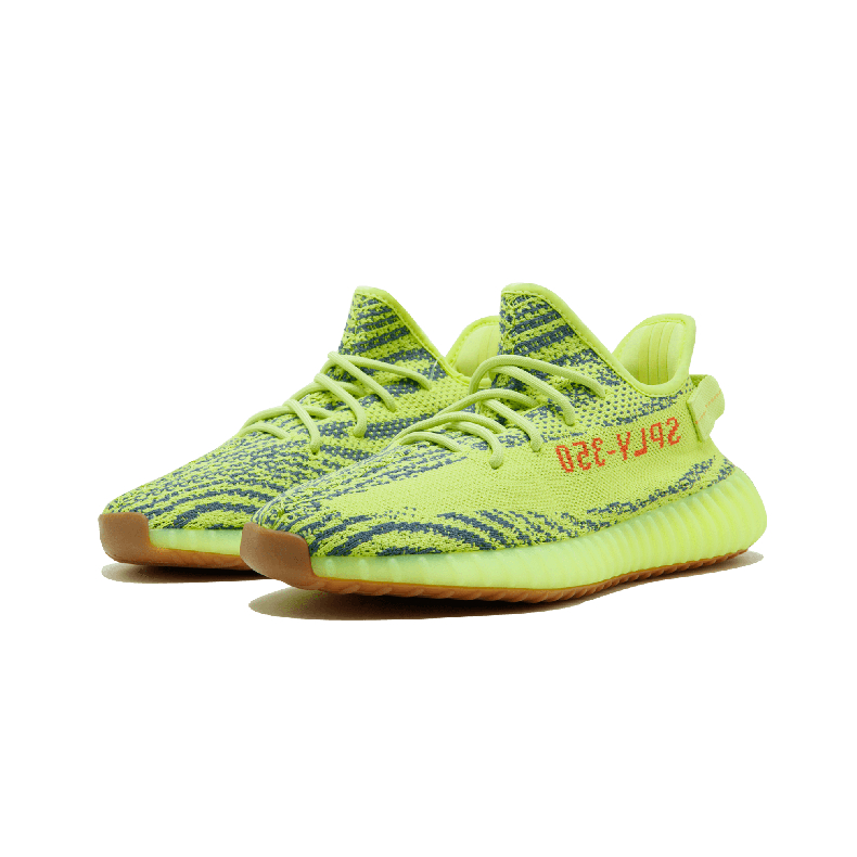 896484642 Adidas Yeezy Boost 350 V2 Grandfather Fluorescent Yellow Zebra Coconut  Running Shoes B37572