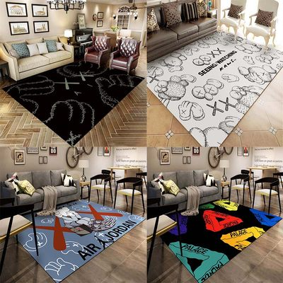 Tide brand carpet personality living room net red the same creative kaws carpet bedroom full of cute cloakroom floor mats
