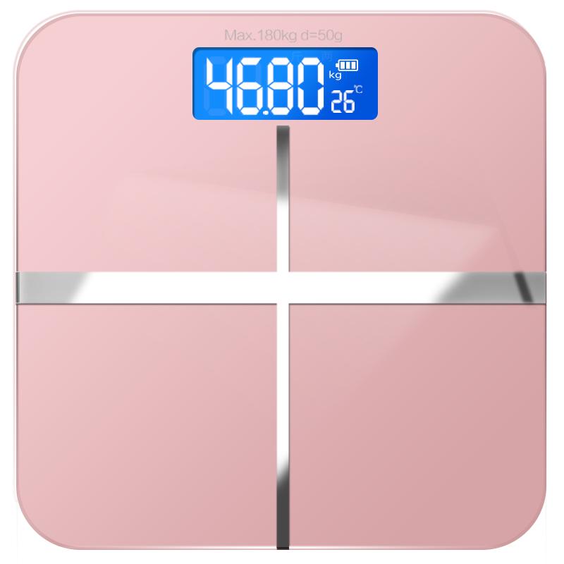 电子称体重秤女生小巧家用电池人体秤宿舍小型成人精准减肥称重计