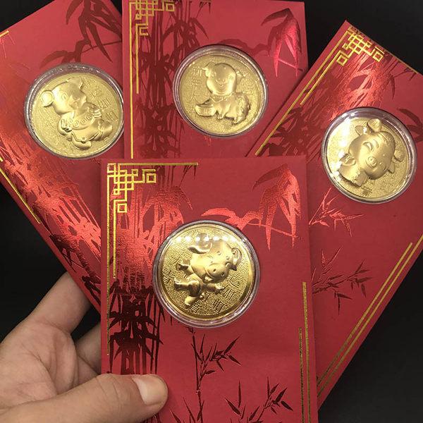 米兰世博会指定产品供应商 思无邪 2019 足金 猪年纪念币 天猫优惠券折后¥68包邮(¥98-30)