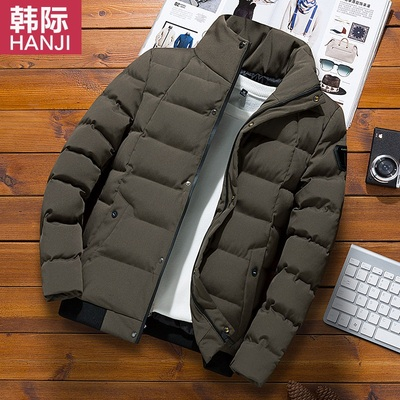 韩际冬季立领加厚棉衣男士运动服