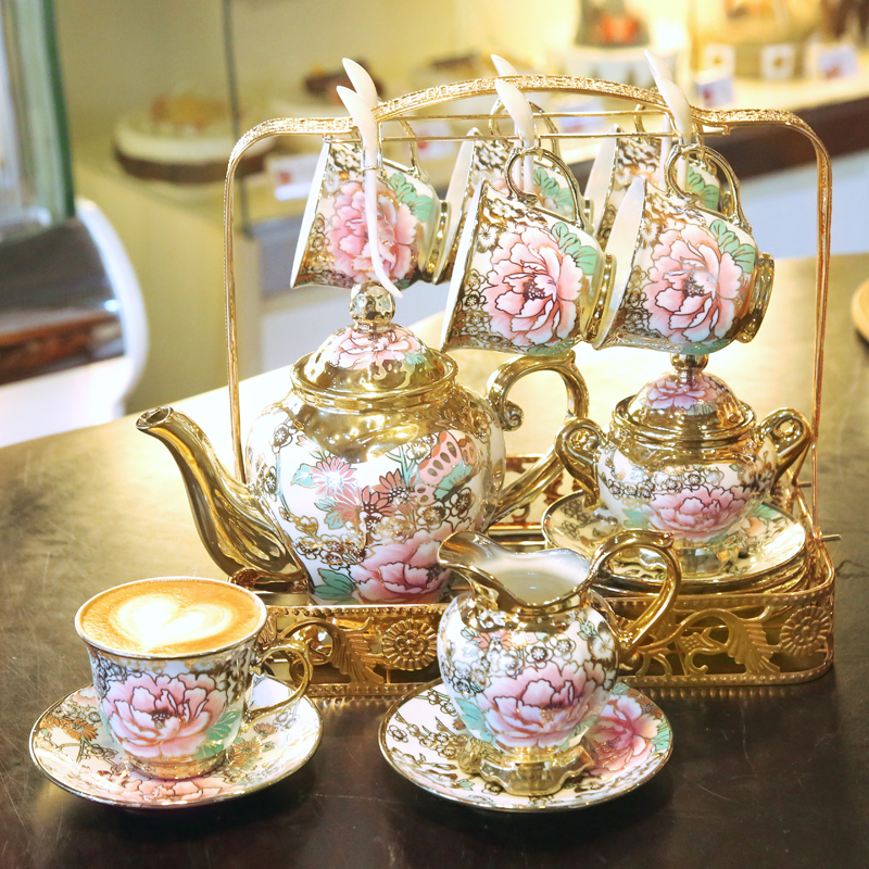 Континентальный кофе установите кофе отрицать чайник чашка чашка отрицать костяной фарфор британская днем чайный сервиз