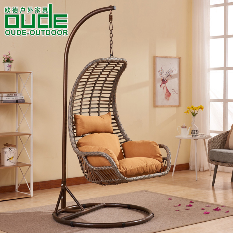 歐德戶外吊籃藤椅秋千椅家用成人吊椅室內陽臺休閑單雙人搖籃椅