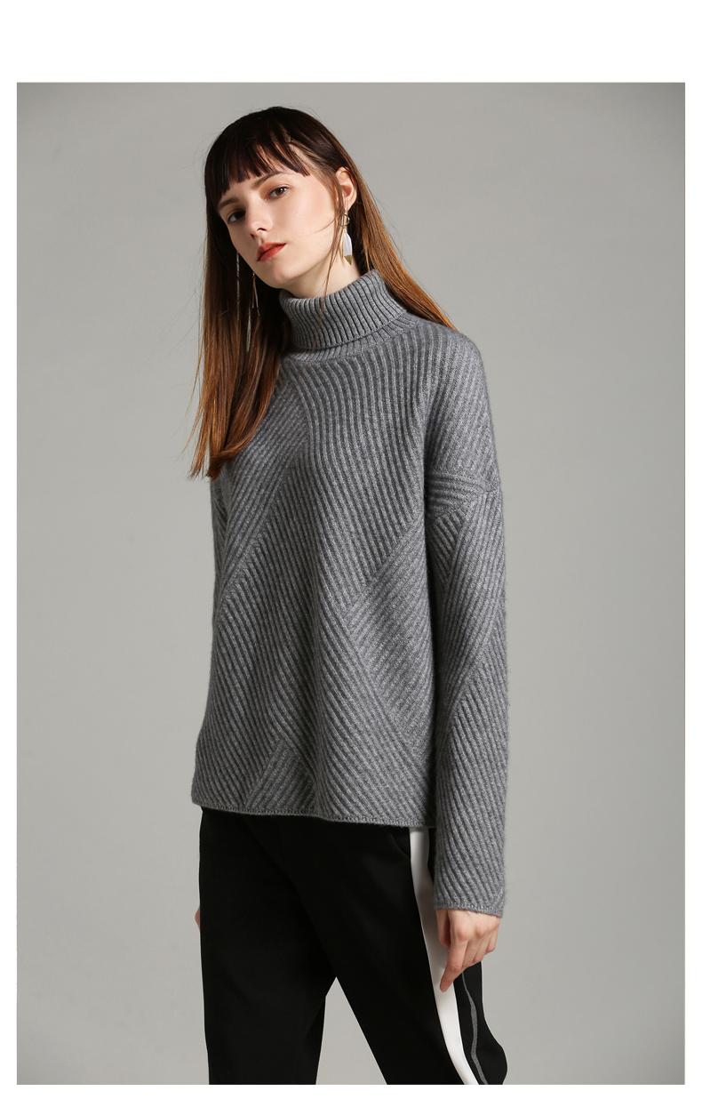 高领毛衣加厚女冬套头保暖打底上衣新款潮短款宽松针织衫外穿 - 壹一 - 壹一编织博客