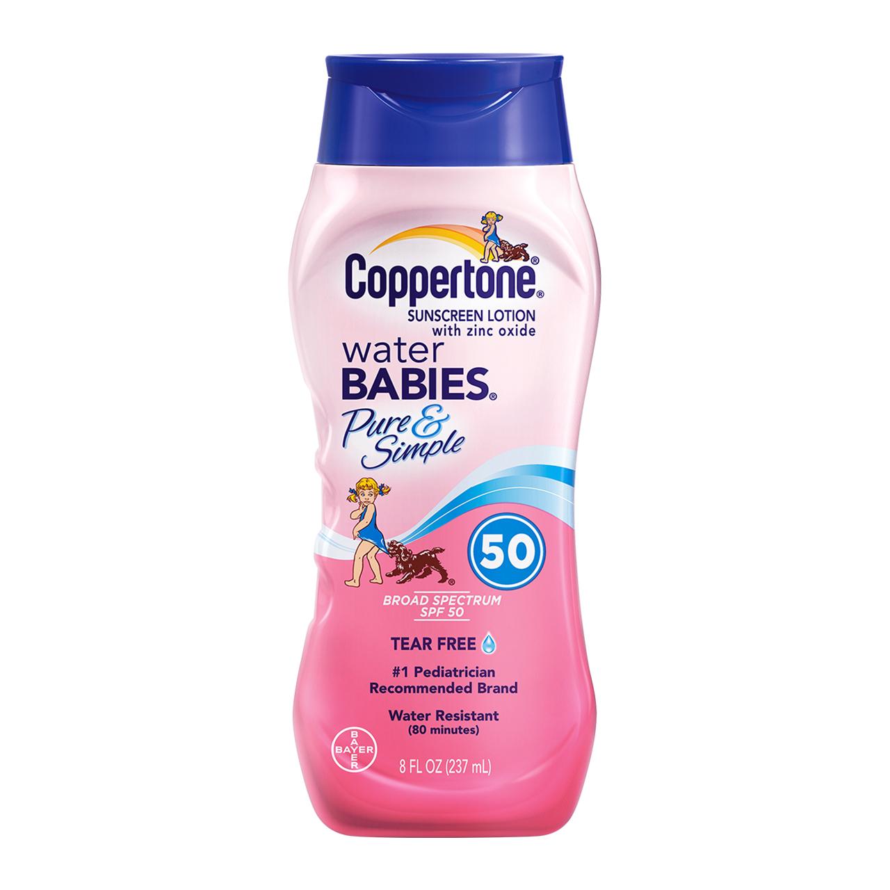 Coppertone/水宝宝美国确美同水宝宝儿童女防晒霜乳SPF50+237g