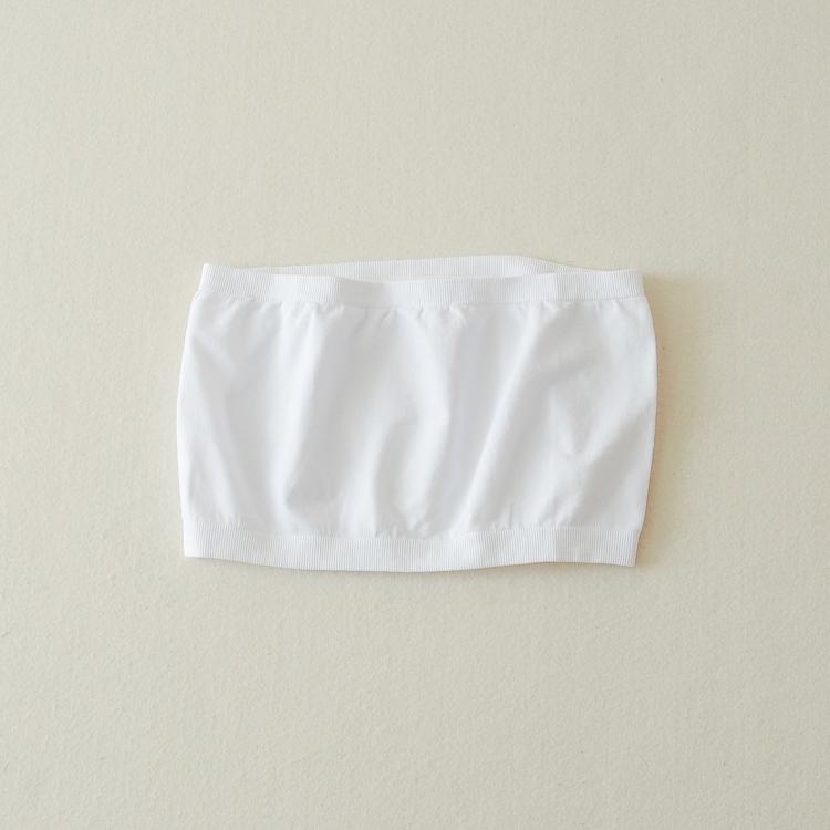 Mùa hè màu đen bọc ngực phần ngắn chống thiếu ngực ngực quây đáy đồ lót corset một mảnh ống top nữ trắng
