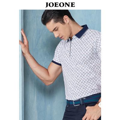 Chín động vật chăn nuôi nam ngắn tay T-Shirt mùa hè kinh doanh mới giản dị tự trồng xu hướng ve áo ngắn tay T-Shirt POLO áo sơ mi áo phông nam Áo phông ngắn