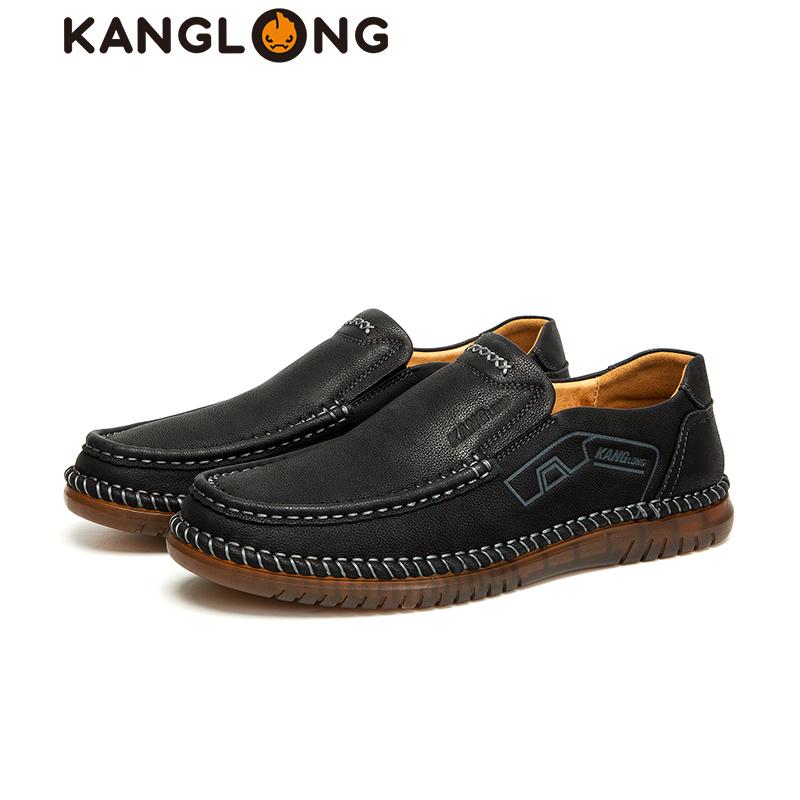 [Cửa hàng giao hàng] Kanglong mùa thu 2019 toàn kênh tròn đầu kinh doanh bình thường dụng cụ nam giày đế thấp giày nam - Giày thấp