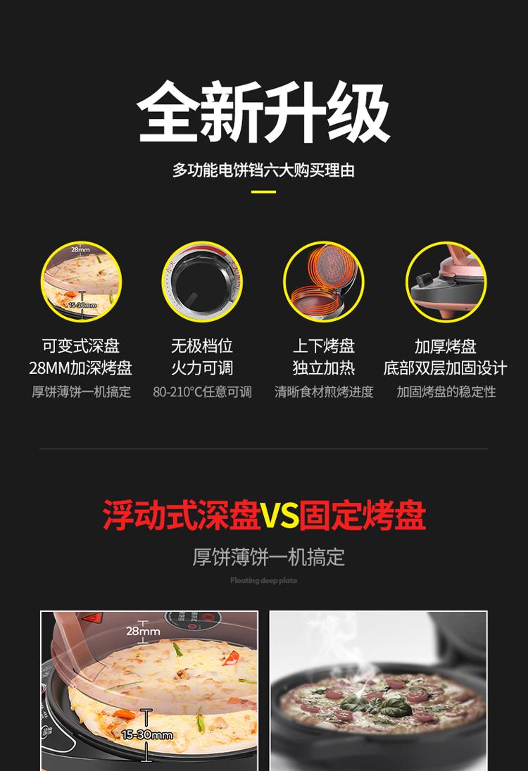 双喜电饼铛家用煎饼烙饼锅双面加热新款自动断电饼檔加深加大正品详细照片