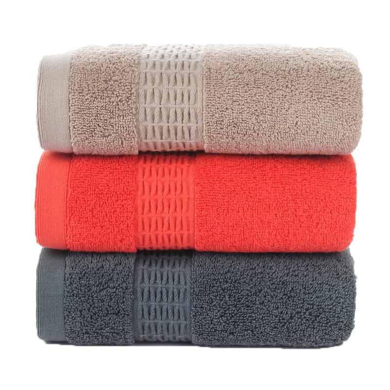 绿竹坊 家用柔软成人大毛巾3条装