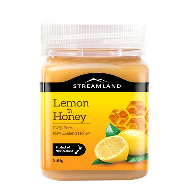 新溪岛新西兰进口天然蜂蜜农家自产柠檬蜂蜜250g