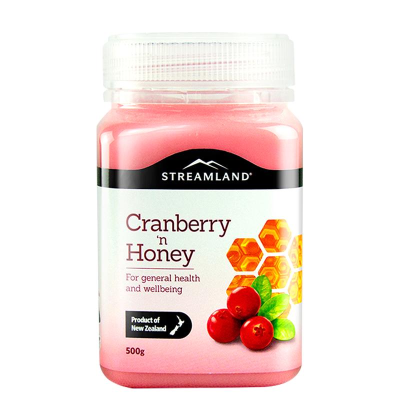 新西兰进口 Streamland 新溪岛 蔓越莓蜂蜜 500g