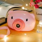网红小猪吹泡泡机抖音同款少女心萌牛全自动照相机儿童电动玩具